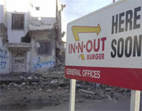 Some Middle East experts believe that violence in Syria would diminish if there was an In-And-Out Burger.