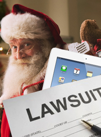 Several companies have filed lawsuits against Santa Claus claiming patent infringement.