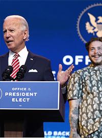President Elect Joe Biden has nominated Post Malone as the newly created Secretary of Yeet.
