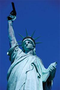 An artist's interpretation of the new Statue of Liberty.